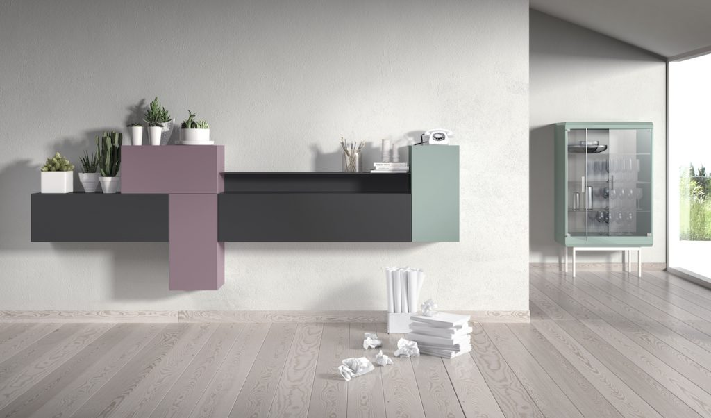 Aparador moderno modular en varios colores