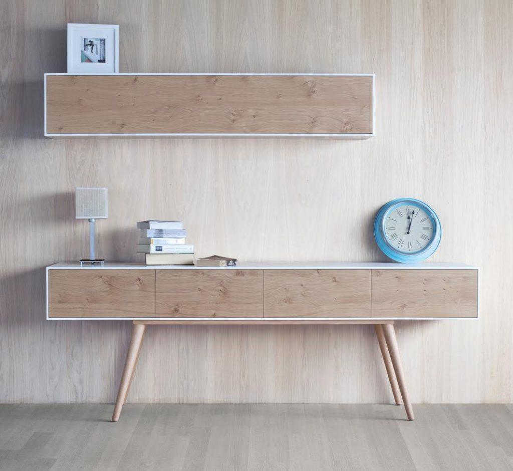 Muebles nórdicos modulares para el salón
