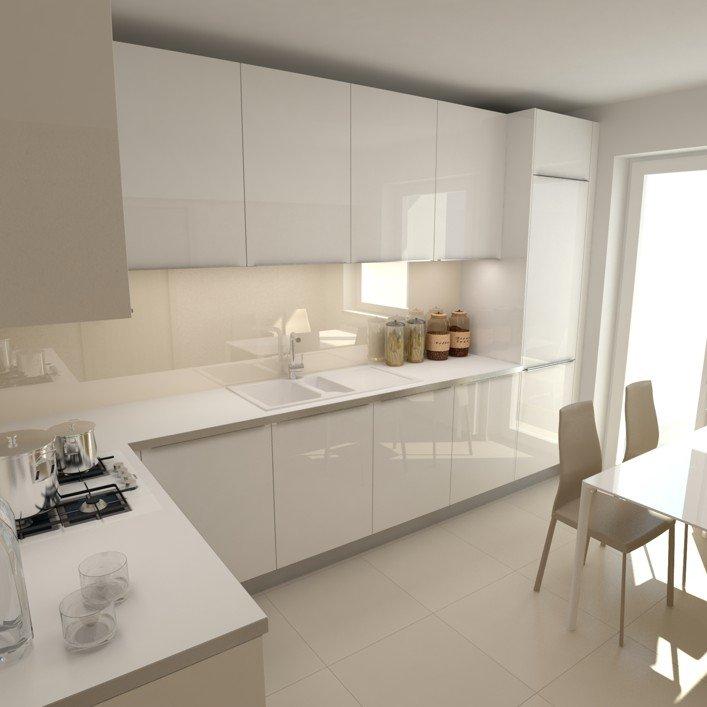 Cocina moderna blanca