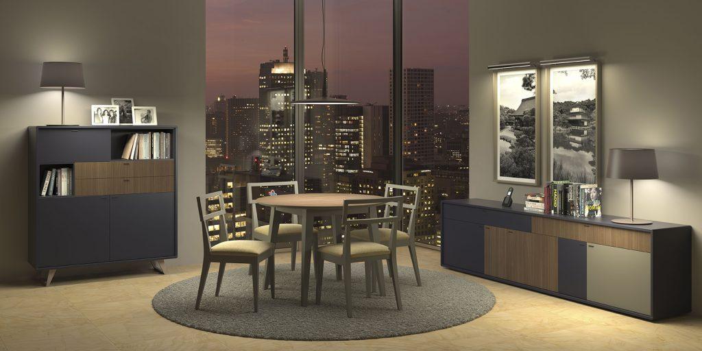 Muebles de salón estilo nórdico