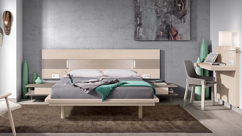 Habitación matrimonio moderna en madera