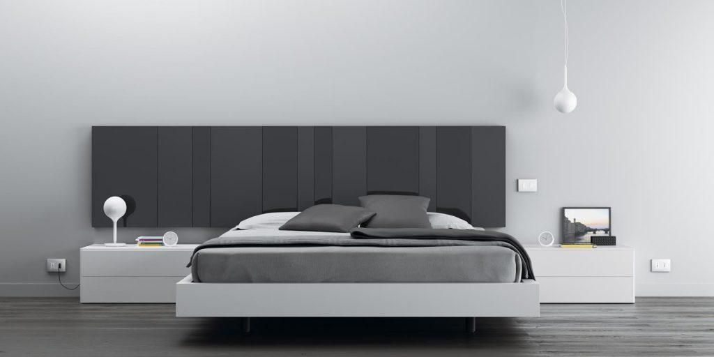 Dormitorio matrimonio moderno gris