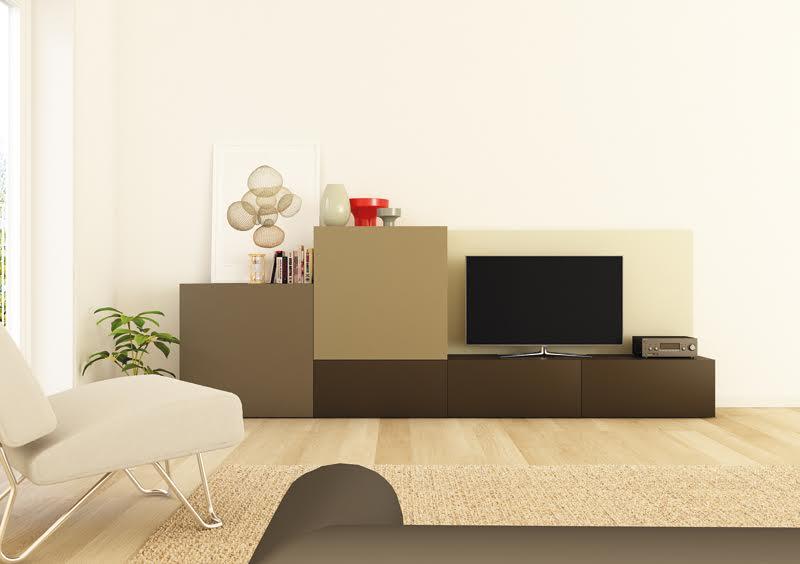 Muebles modernos para el salón en cubos