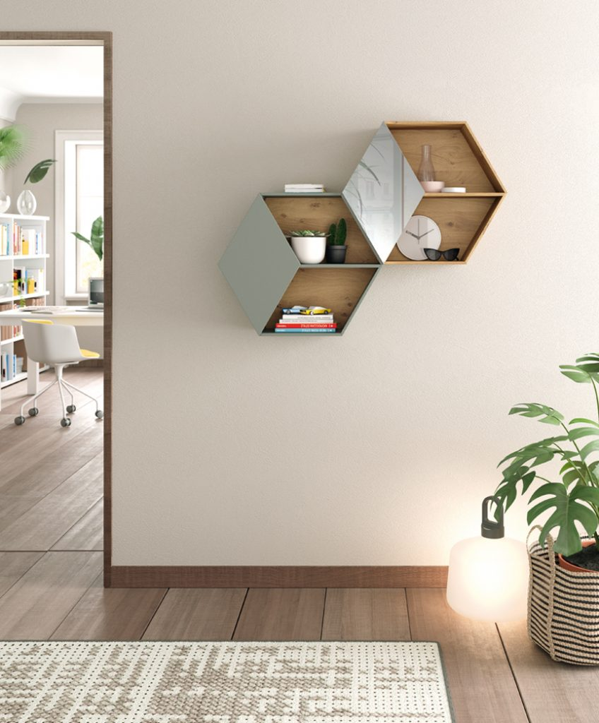 Módulos de pared forma hexagonal