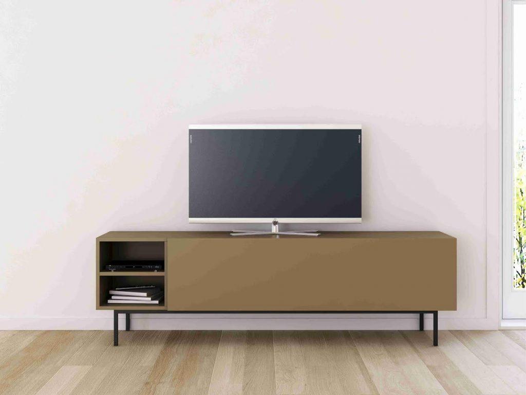 Mueble de tv con hueco, acabado lacado