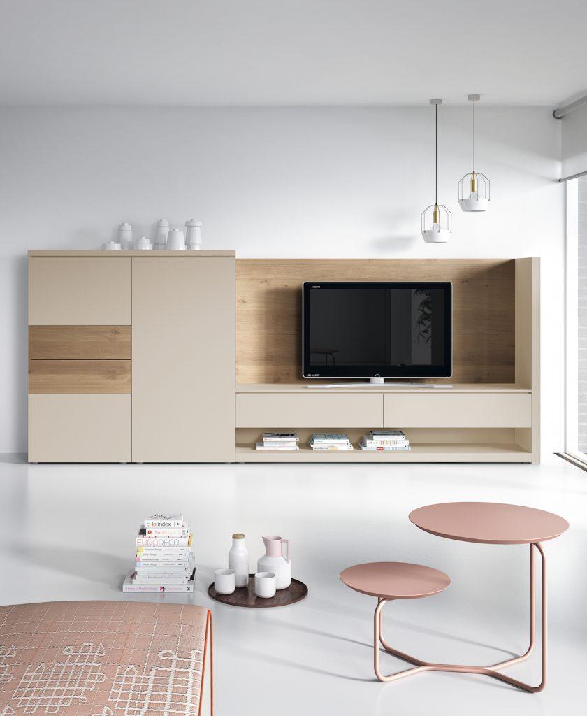Modular salón con tv y aparador de diseño