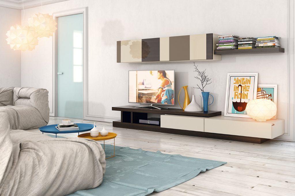 Mobiliario modular para el salón de líneas rectas