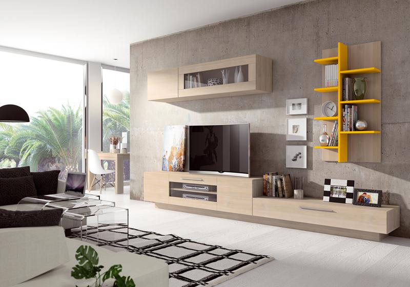 Salón de diseño lacado y madera
