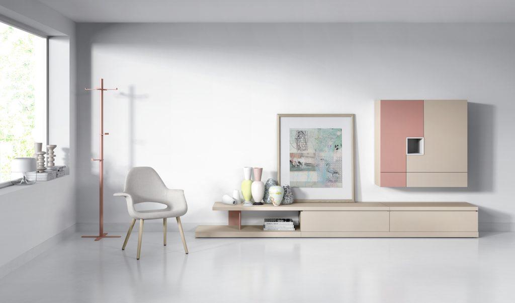 Mueble para tv salón en madera lacada