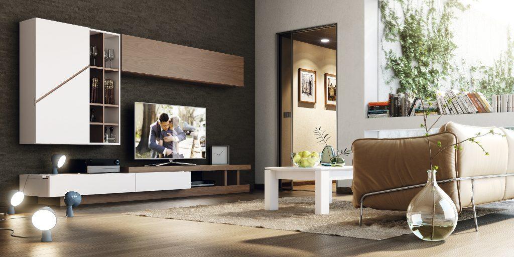 Conjunto de mobiliario para el salón de toque moderno