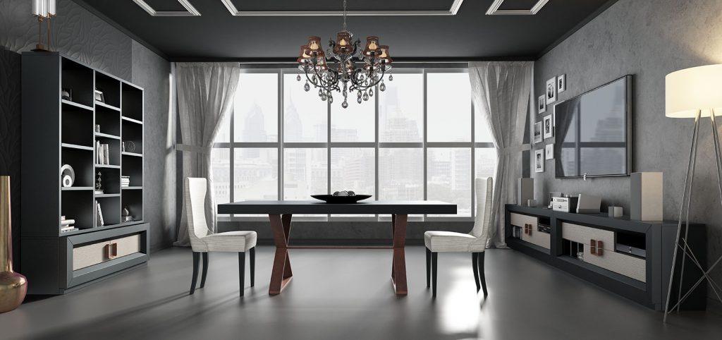 Conjunto de muebles de diseño para el salón