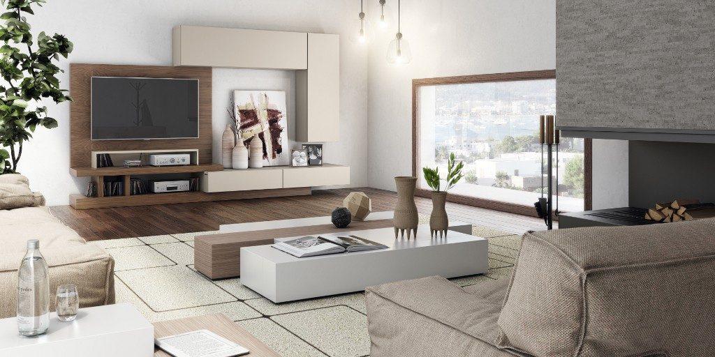 Mobiliario para el salón de estilo moderno lacado