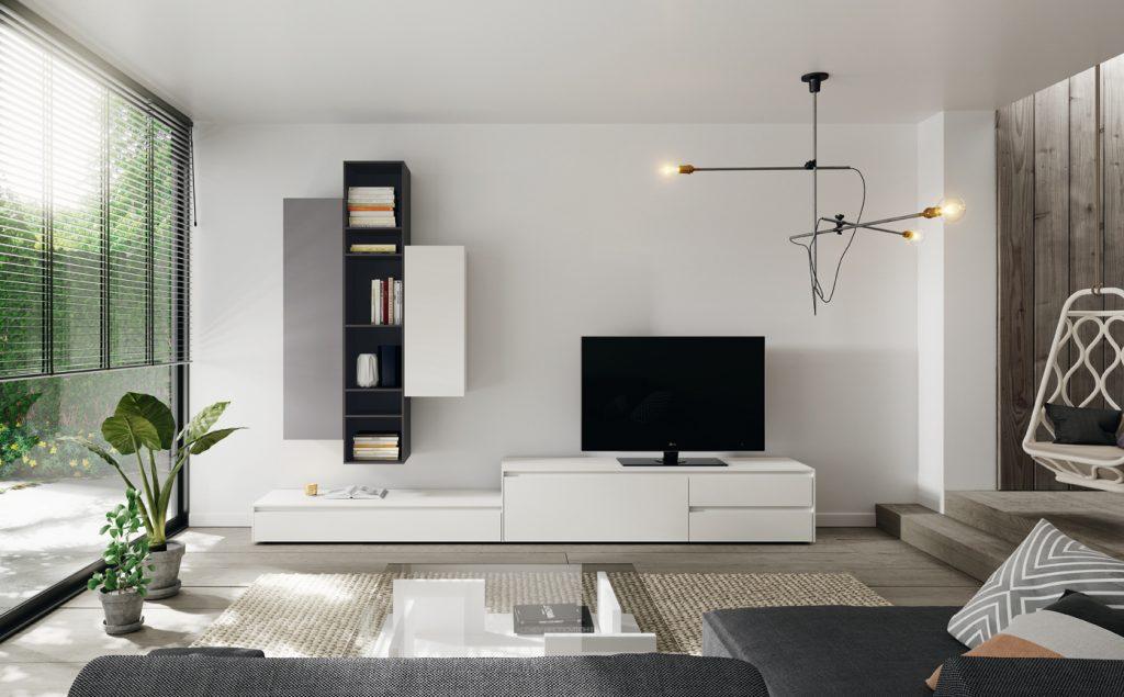 Salón moderno acabado lacado