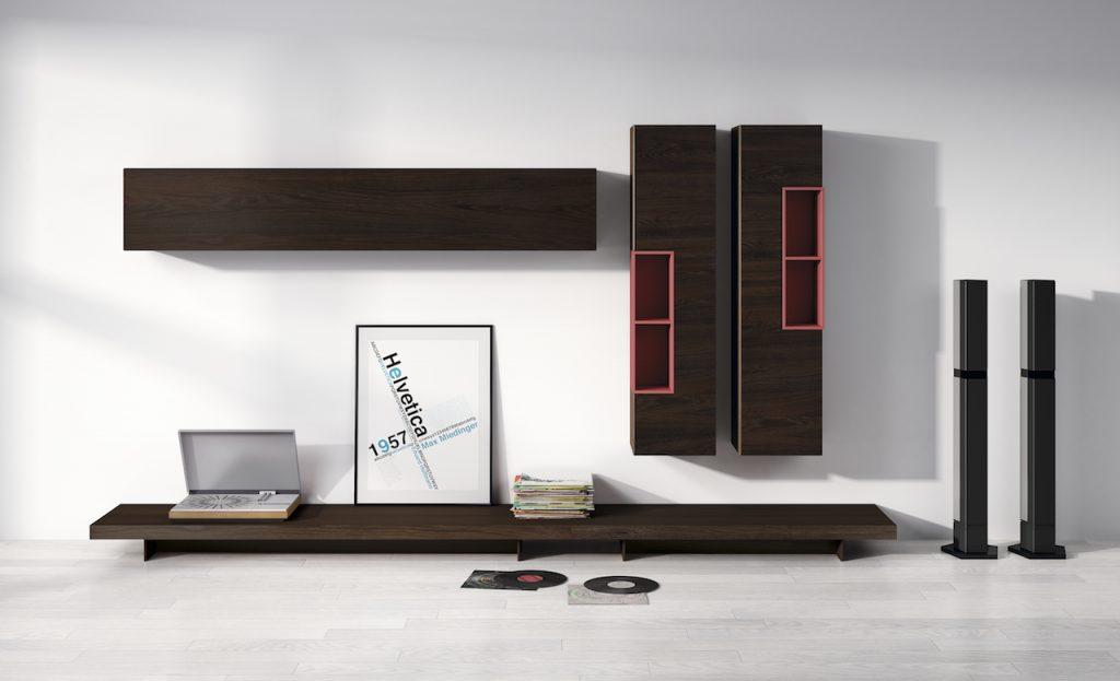Muebles de diseño para el salón en madera y detalles lacados