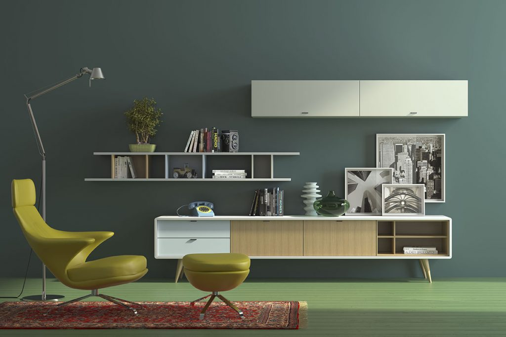Salón modular estilo nórdico