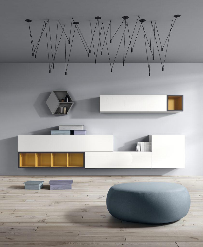 Muebles de salón modernos para colgar en pared