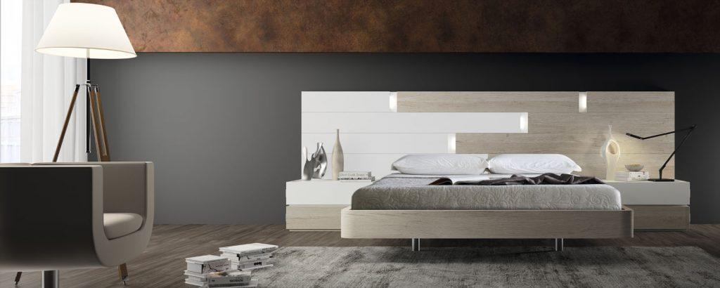 Dormitorio de diseño con cabecero king size