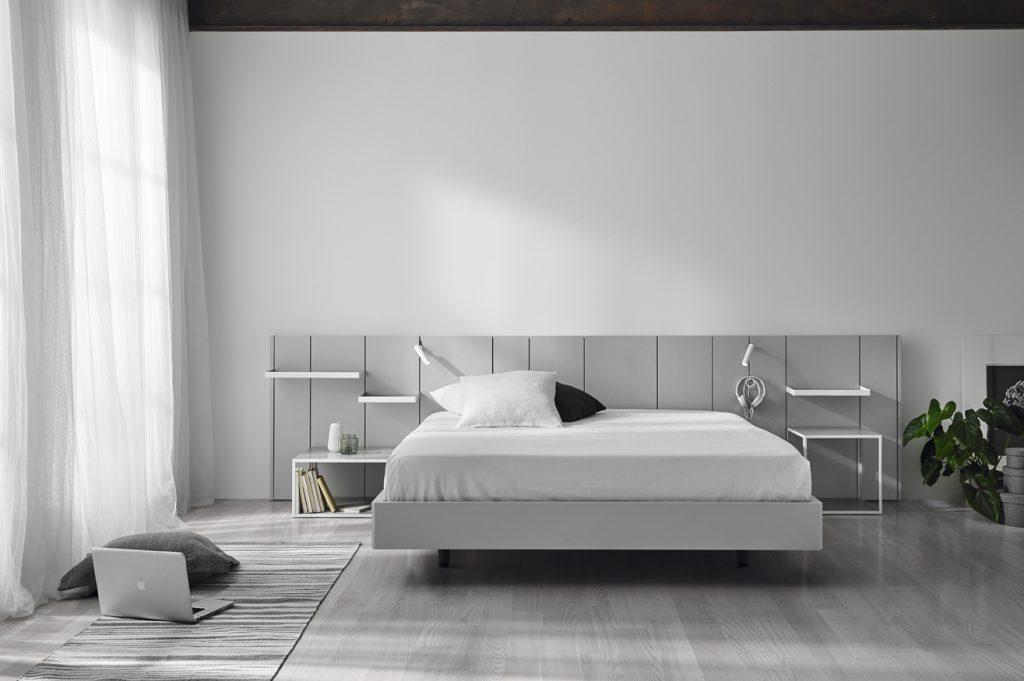 Habitación moderna en gris lacada