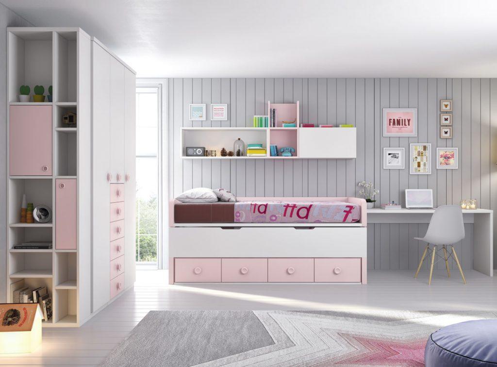 cama compacta y armario