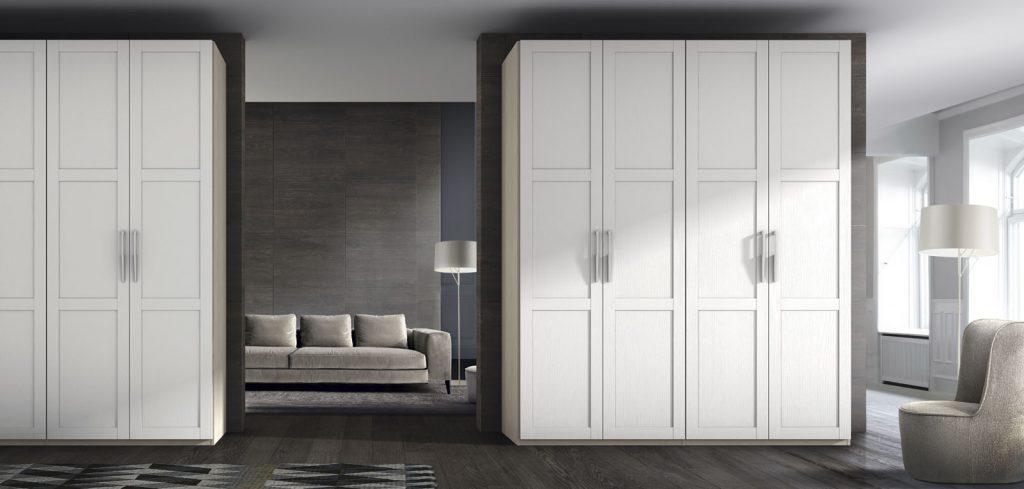 vestidor puertas abatibles enmarcadas