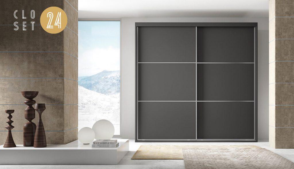 vestidor puertas japonesas tres plafones