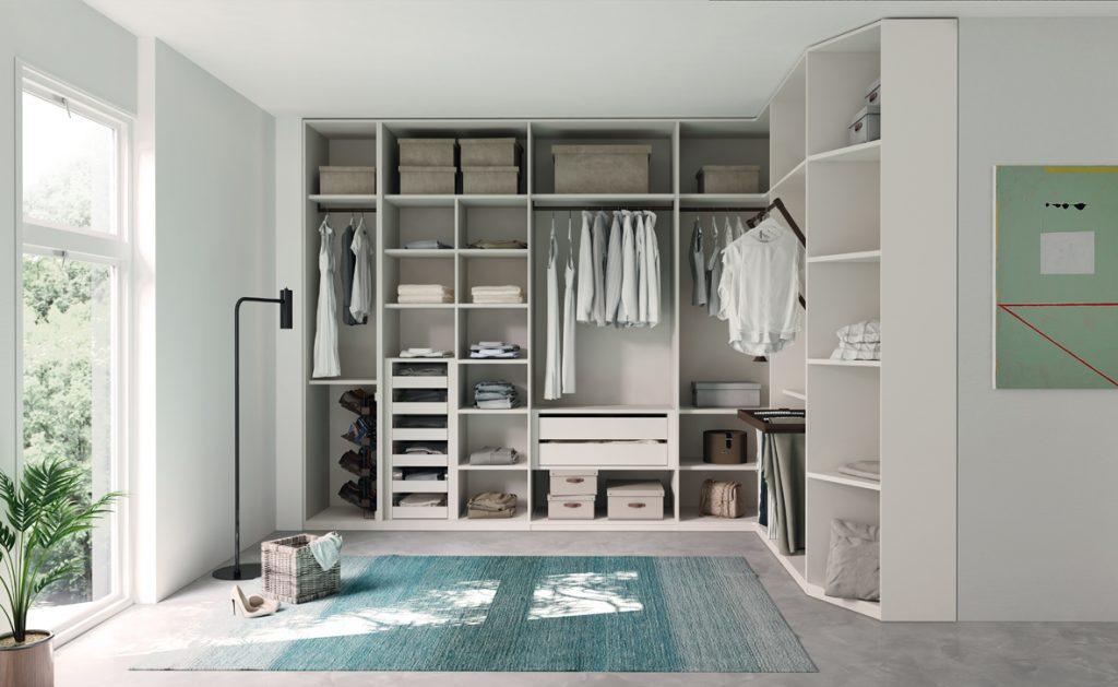 vestidor sin puertas blanco
