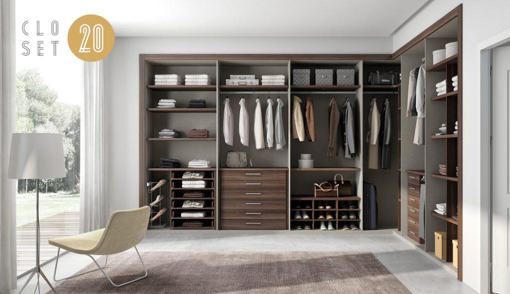 vestidor de madera a medida